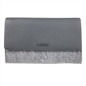 La Prairie Gray Makeup Bag Clutch